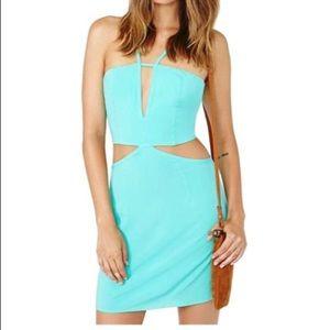 Nasty Gal Mint Night Out Cutout Dress